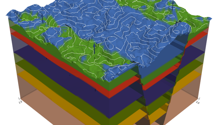 geologisches 3D Modell