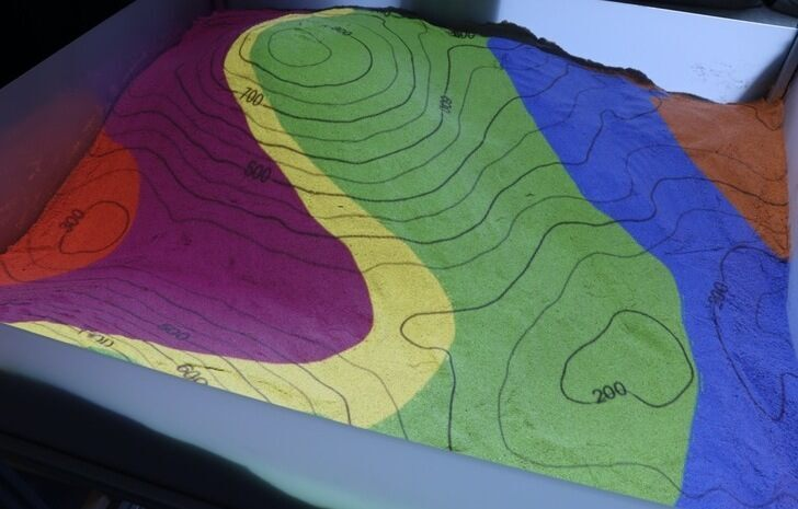 AR Sandbox: geology